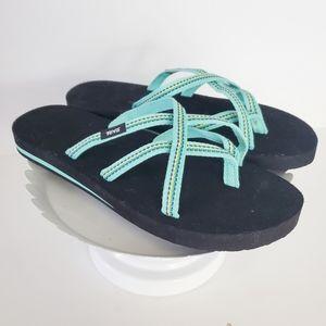 Teva Olowahu Mint Green Foam Flip Flop Sandal 10